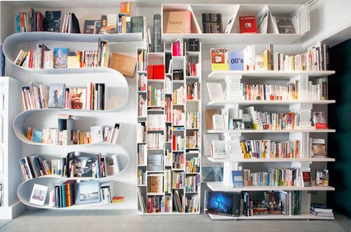 Curly bookshelf