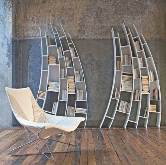 unusual and desirable bookshelves designs saba italia 46 Creative and Stylish Bookshelf Designs