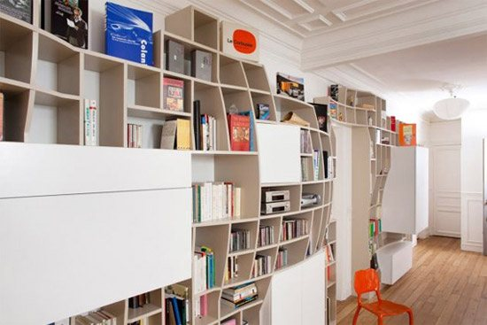 unusual and desirable bookshelves designs the swollen wall 46 Creative and Stylish Bookshelf Designs