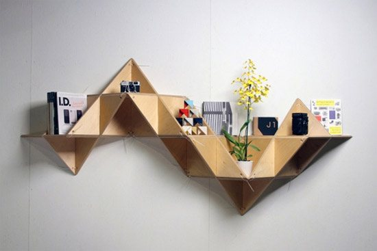 unusual and desirable bookshelves designs tshelf 46 Creative and Stylish Bookshelf Designs
