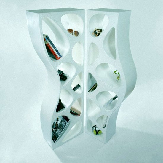 unusual and desirable bookshelves designs twin shelves 46 Creative and Stylish Bookshelf Designs