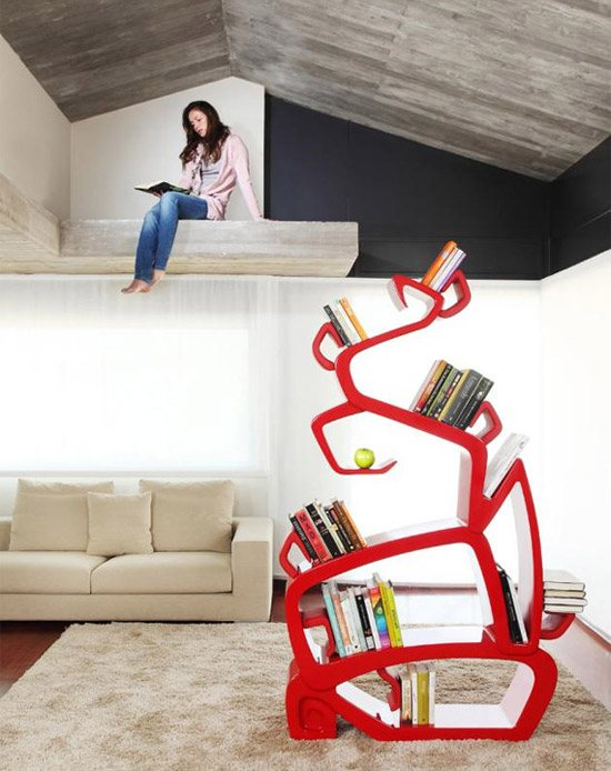 unusual and desirable bookshelves designs wisdomtree 46 Creative and Stylish Bookshelf Designs