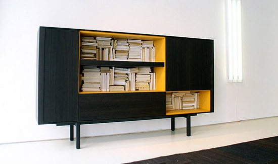 unusual and desirable bookshelves designs yellow 46 Creative and Stylish Bookshelf Designs