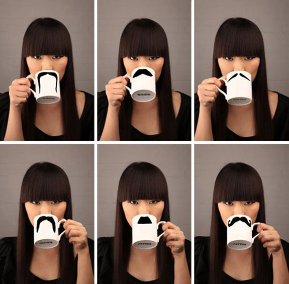 creative mugs moustache 4 50 Stylish Tea and Coffee Mugs Creative Designs