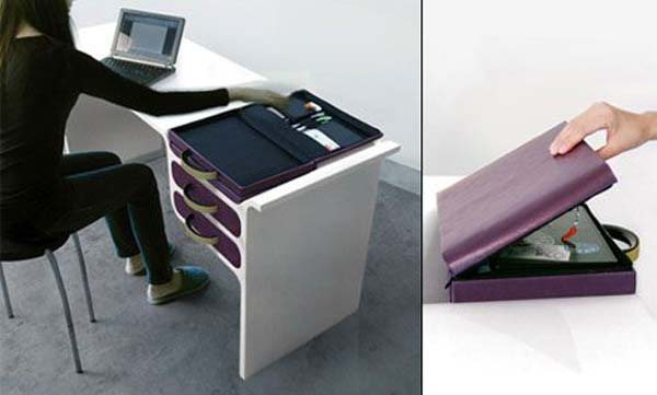 drawer bag 35 Super Modern Office Desk Designs - Designs Mag