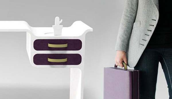 drawer bag2 35 Super Modern Office Desk Designs - Designs Mag