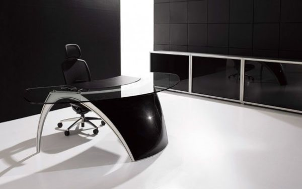 futuristic office table luna by uffix 2 35 Super Modern Office Desk Designs - Designs Mag