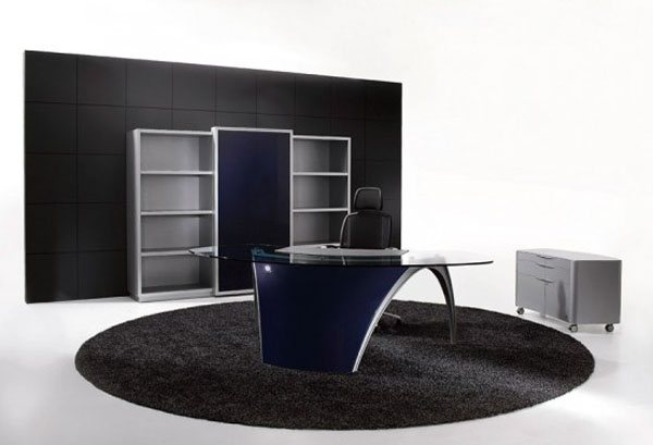 futuristic office table luna by uffix 3 35 Super Modern Office Desk Designs - Designs Mag