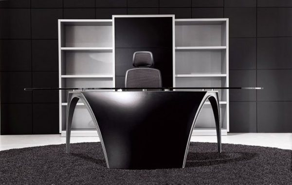 futuristic office table luna by uffix 35 Super Modern Office Desk Designs - Designs Mag
