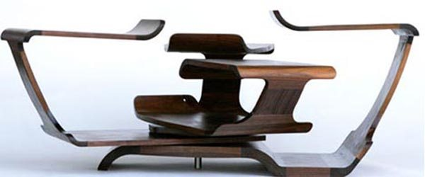 rotating curved wooden desk 35 Super Modern Office Desk Designs - Designs Mag