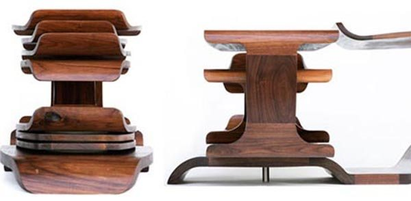 rotating round wood table 35 Super Modern Office Desk Designs - Designs Mag