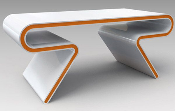 sleek futuristic table furniture 35 Super Modern Office Desk Designs - Designs Mag