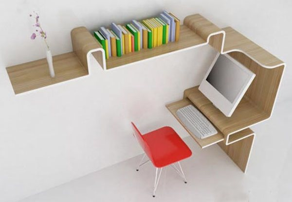 space saving desk storage 35 Super Modern Office Desk Designs - Designs Mag