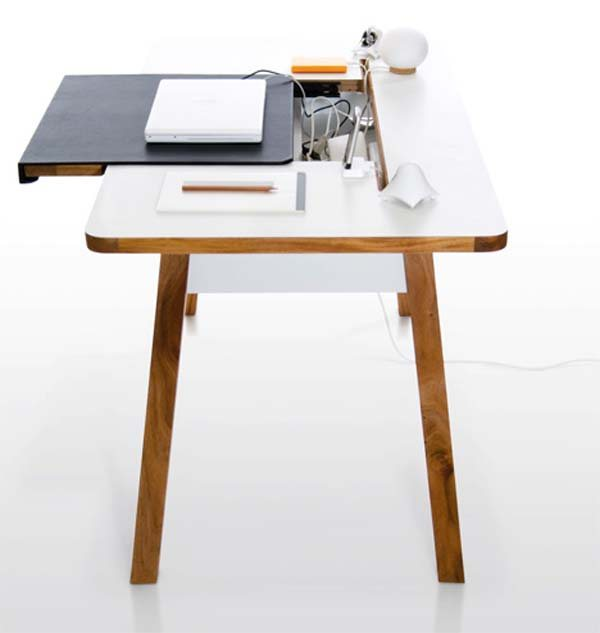 studio desk3 35 super modern office desk designs designs mag - Home Office Desk Design