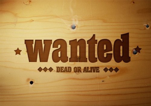 wanted 30 Interesting Photoshop Text Effect Tutorials - Designs Mag