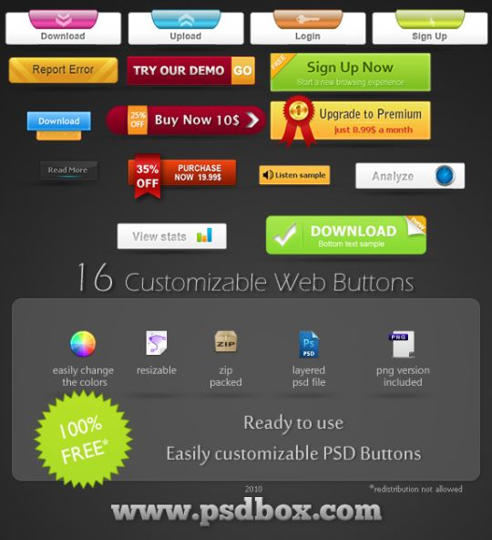80 Prefect Downloadable Photoshop Web Buttons - Designs Mag