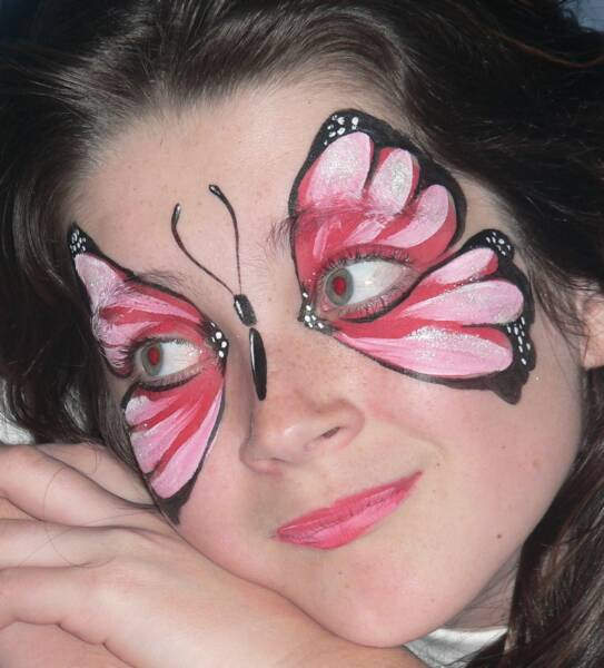 simple face paintings