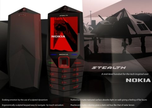 Nokia Stealth concept phone 45 Superb Concept Cell Phone Designs