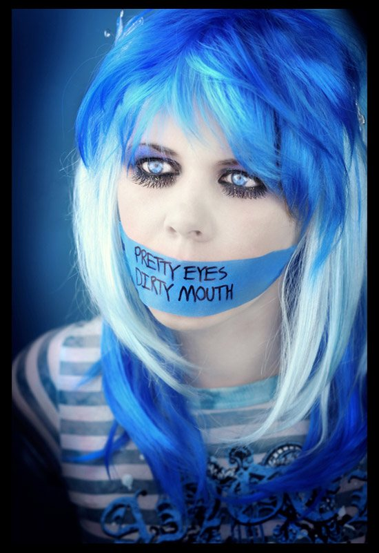 Pretty Eyes  Dirty Mouth by girltripped 110 Stunning Examples of Conceptual Photography