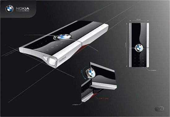 nokia bmw concept phone 45 Superb Concept Cell Phone Designs
