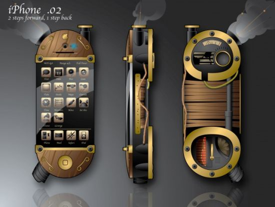 steampunk concept phone ilounge concept contest v1sdN 59 45 Superb Concept Cell Phone Designs