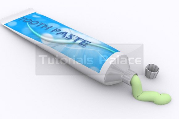 tooth paste final How to Make Tooth Paste in 3D Max - Designs Mag