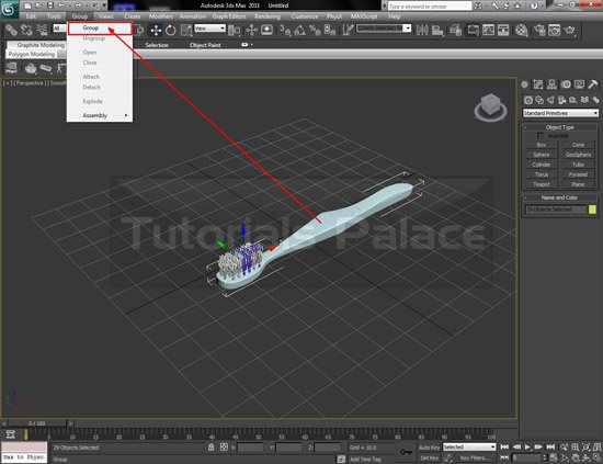 toothbrush 3d 30 Making of Toothbrush in 3D Max