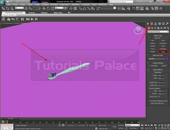 toothbrush 3d 32 Making of Toothbrush in 3D Max