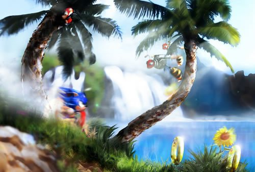 Green Hill Zone by Orioto 135 Amazing Video Game Wallpapers
