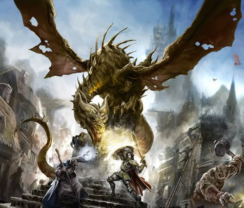 dragon and cyclop 135 Amazing Video Game Wallpapers