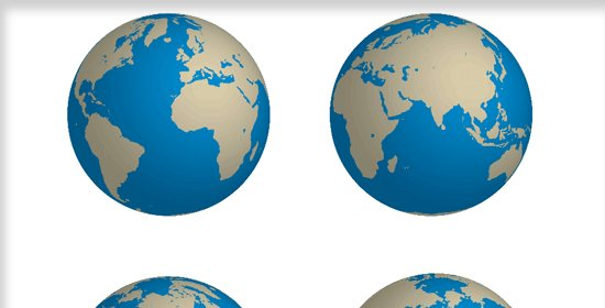 Create a Rotatable Globe in Adobe Illustrator
