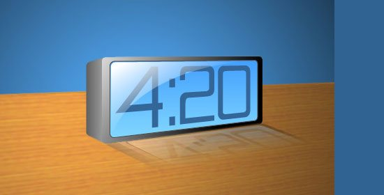 3D Blue LCD Alarm Clock