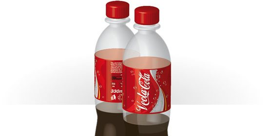 3D Objects and Transparencies to Make a Vector Cola Bottle Design