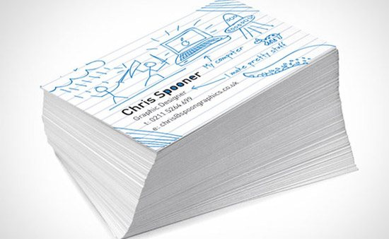 create fun ready doodled business card print design tutorials Collection of Remarkable Tutorials of Print Ready Designs