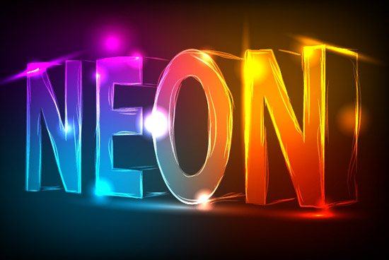 neon text effect 42 Stunning Collection of 3D Illustrator Tutorials