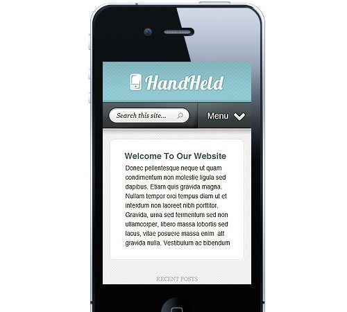 1 Hand Held Mobile Wordpress 25 Professional Mobile WordPress Themes