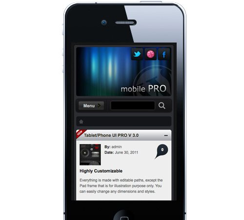 11 mobile pro 25 Professional Mobile WordPress Themes