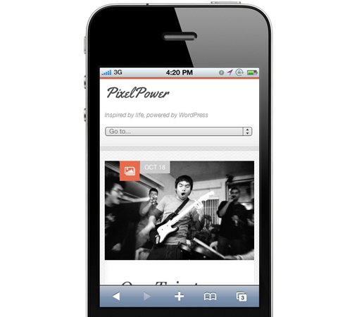 12 pixelpower responsive html5css3 25 Professional Mobile WordPress Themes