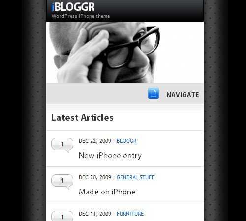 15 sofa ibloggr wordpress 25 Professional Mobile WordPress Themes