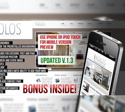 19 kolos wordpress theme 25 Professional Mobile WordPress Themes