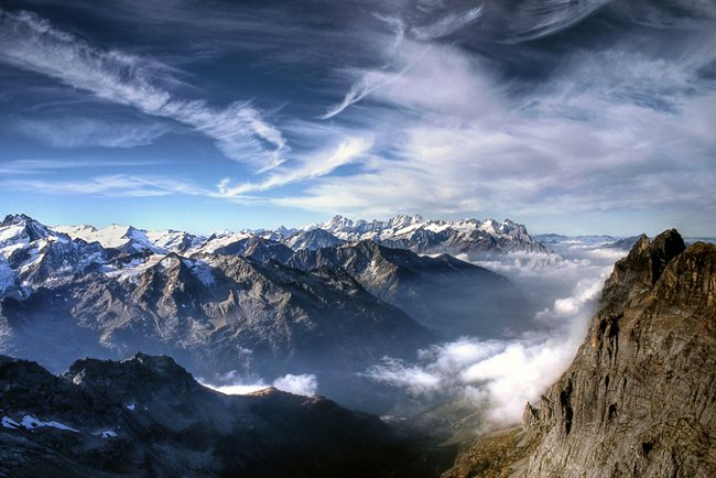 A Day on The Top of Mount Titlis Wonderland Landscape Photography   Real ?