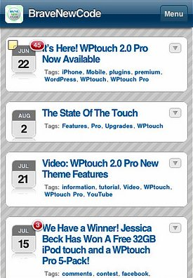 wptouch 25 Professional Mobile WordPress Themes