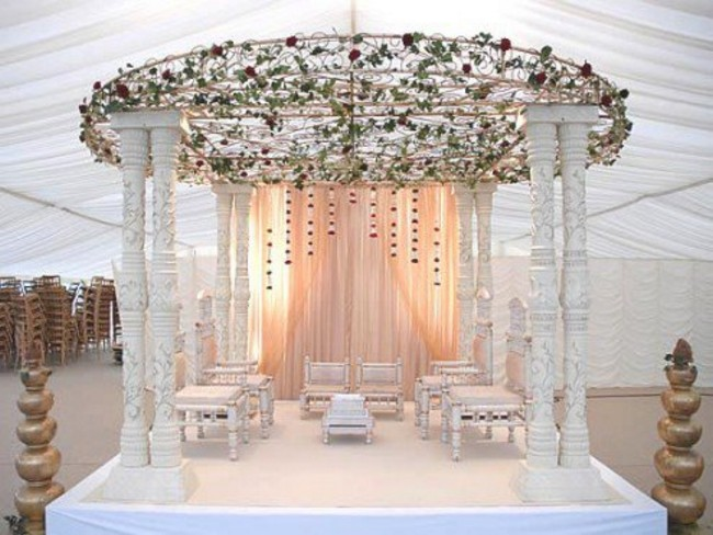 Mehndi Stage Background : Venue and stage decoration ideas