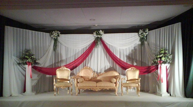 stage decoration images by hand