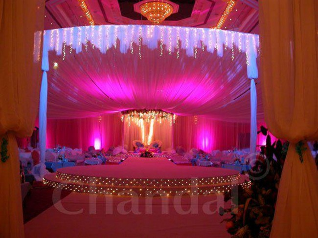 simple stage decoration for college function
