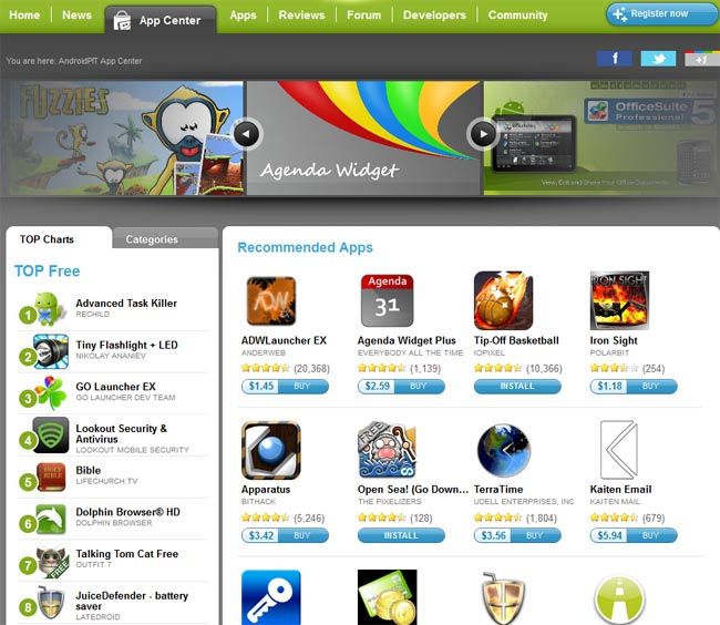 AndroidPIT Apps designsmag AndroidPIT: The Ultimate Android Web Resource