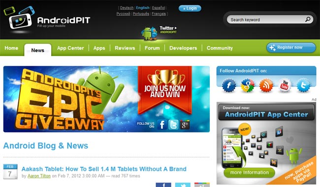 AndroidPIT Blog designsmag AndroidPIT: The Ultimate Android Web Resource