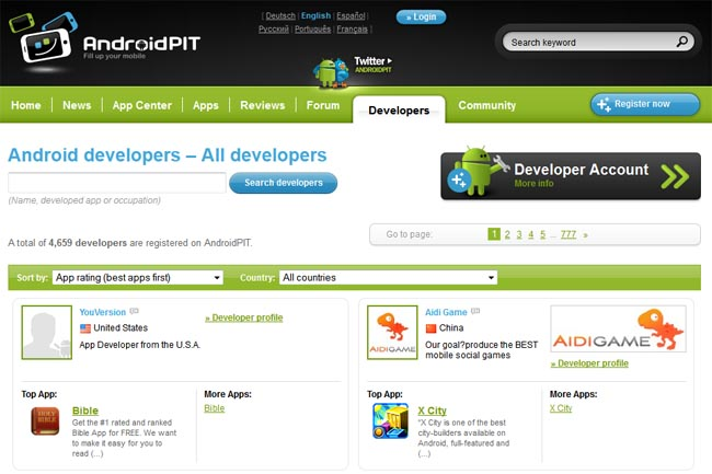 AndroidPIT Developer designsmag AndroidPIT: The Ultimate Android Web Resource