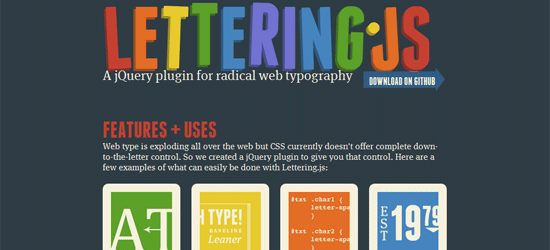 15 jQuery Plugin for Animation and Typography - Designsmag