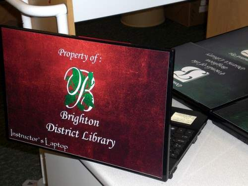 17 Brighton District Library Laptop Skin 500x375 50 Creative Laptop Skins and Stickers Design
